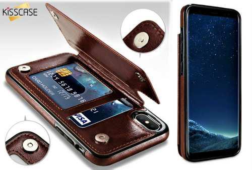 Funda cartera piel iphone x plus y iphone xs max mica gratis