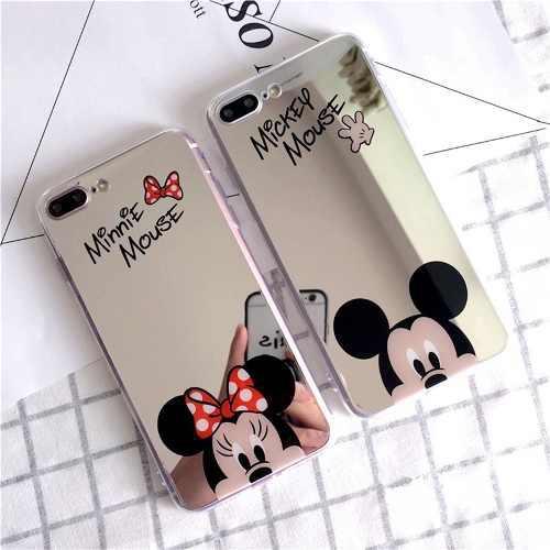 309cf89965b Funda case espejo mickey minnie tpu iphone 6 6s 7 plus envio