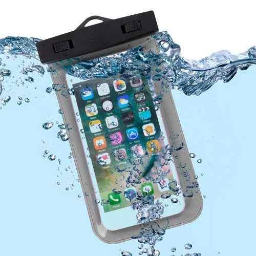 Funda contra agua 100% sumergible para celular negro g1036