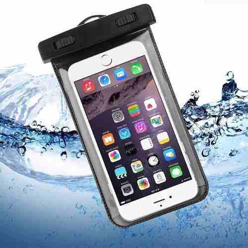 aae71a4d622 Funda contra agua celular universal con cordon + envio