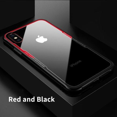 Funda protectora case lujo iphone 6 7 8 plus x +mica temp