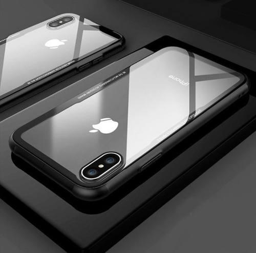 Funda protectora case lujo iphone xr xs max cristal templad