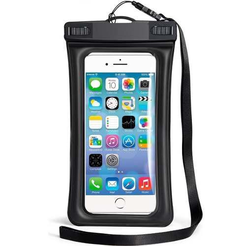 Funda protectora ipx8 para celular contra agua con flotador
