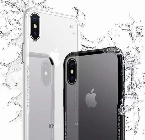 Funda protectora slim lujo iphone 7 8 10 xs max xr cristal t