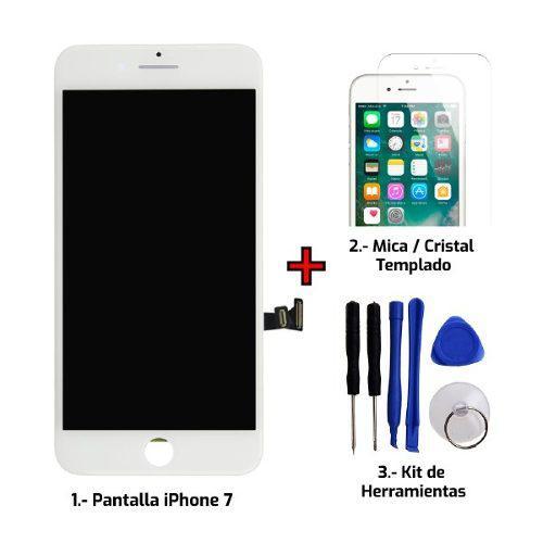 Pantalla display iphone 7 / iphone 8 + cristal + kit regalos
