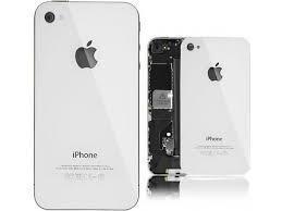 Tapa trasera de cristal iphone 4 original blanco+ kit
