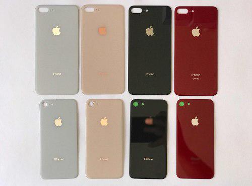 Tapa trasera original iphone 8 & 8 plus blanco negro dorado