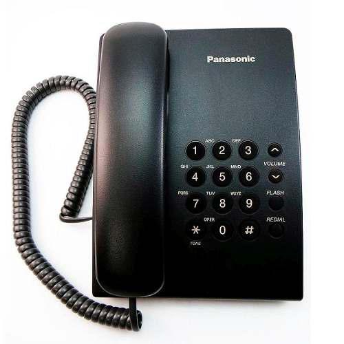 Telefono panasonic kx-ts500 alambrico basico unilinea negro