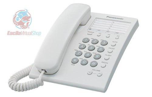 Teléfono alámbrico panasonic kx-ts550mew / meb
