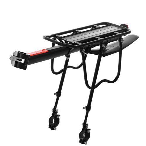 Ajustable bicicleta trasero portador asiento kit de portaequ