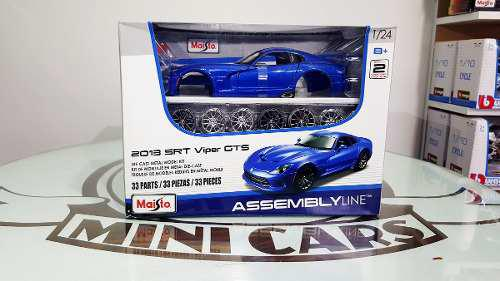 Carros escala 1/24 srt viper gts 2013 auto armable maisto