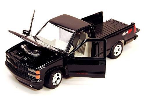 Chevrolet 1500 pick up ss454 negra escala 1:24 motor max