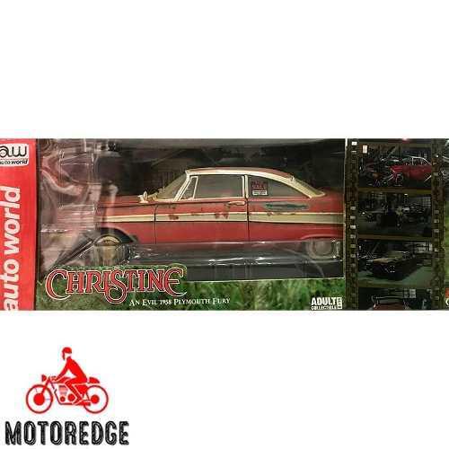 Christine 1958 plymouth fury 1/18 autoworld nuevo