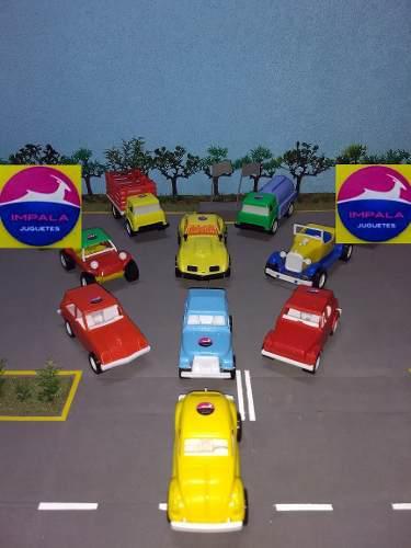 Colección carritos plásticos impala (set de 9 piezas)