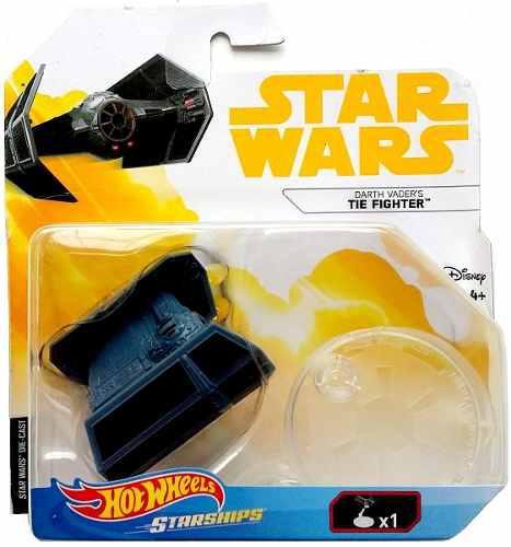 Darth vader's tie fighter star wars hotwheels nave miniatura