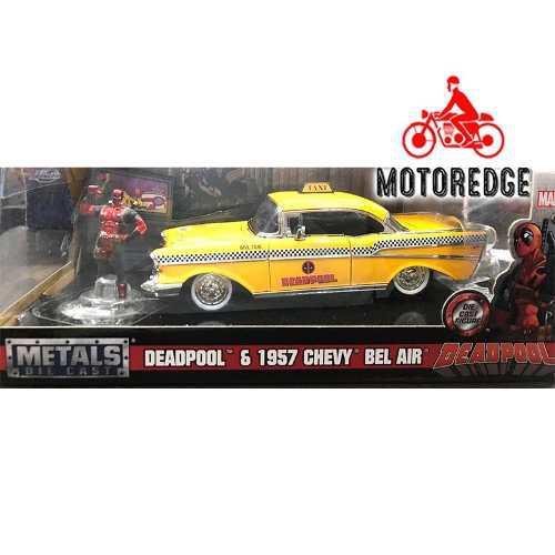 Deadpool taxi chevrolet bel air 1957 marvel jada 1/24 nuevo