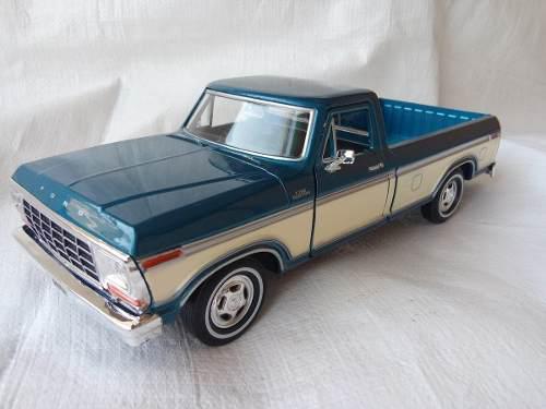 Ford 1979 f-150 pickup esc 1/24 metalica coleccion autos a&b