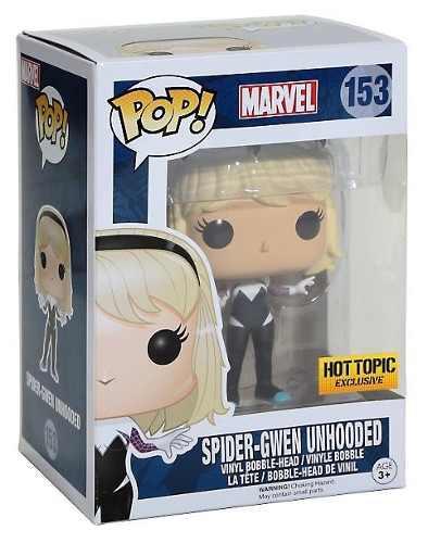 Funko pop spider gwen unmasked marvel spiderman exclusive