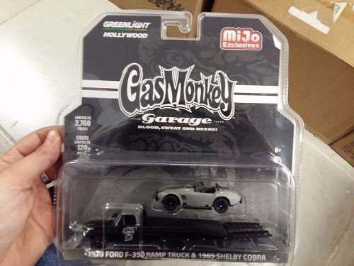 Greenlight gas monkey 1970 ford f350 plataforma & cobra
