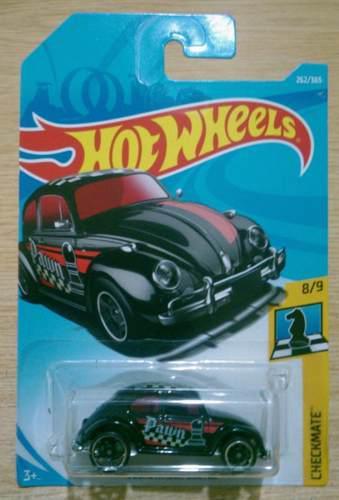Hot wheels volkswagen beetle ajedrez negro peon nuevo vw 18
