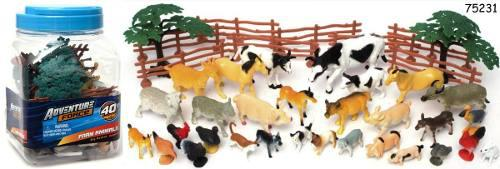 Juguetes animalitos de granja en miniatura 55 piezas juego