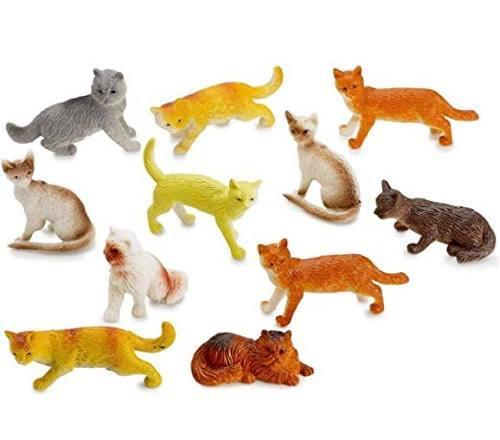 Kidsco gato auténtico juguetes miniatura figuras 12 -