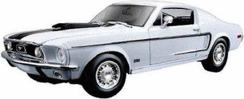 Maisto 1/18 ford mustang cobra gt 1968 blanco diecast metal