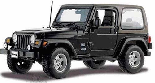 Maisto 1/18 jeep wrangler sahara negro metal / burago siku