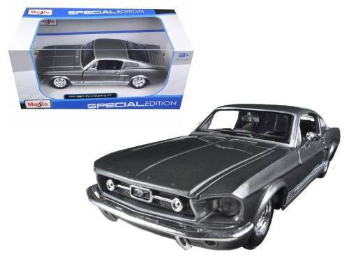 Maisto 1:24 esc. 1967 ford mustang gt-500 gris original