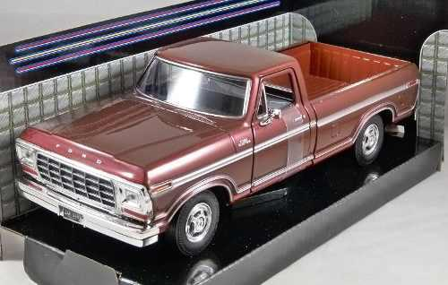 Motor max 1:24 1979 ford f-150 camioneta custom marron cole