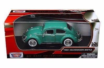 Motor max 1:24 w/b - 1966 volkswagen sedan verde