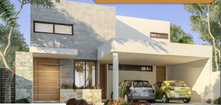 Residencia en venta privada Abedules Merida Norte Mod D