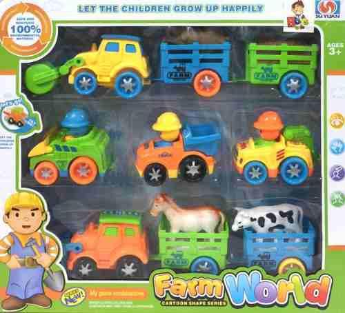 Vehiculos de granja tractores remolques animales infantil