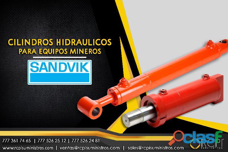 Cilindros hidráulicos para equipos mineros Sandvik