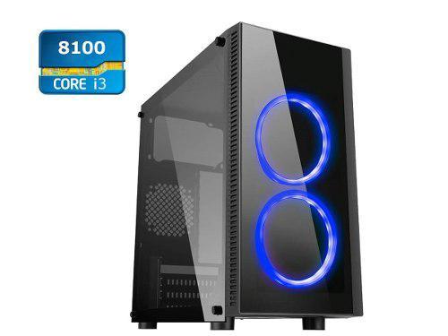 Computadora cpu intel core i3 8100 quad core 4gb ddr4 500gb