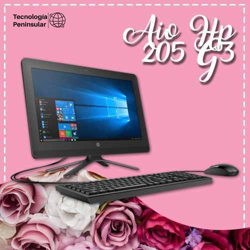 Computadora escritorio aio hp 205 g3 windows radeon graphics