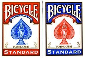 2 mazos de cartas poker bicycle standar 1 mazo azul y 1 rojo