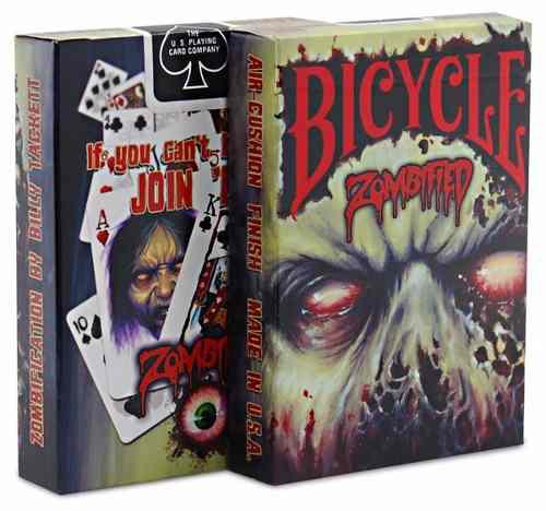 Cartas poker, marca bicycle zombified original