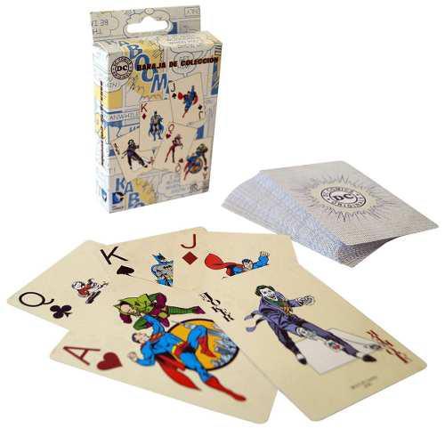 Cartas villanos vs superheroes dc comics baraja naipes poker