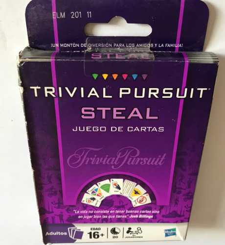 Juego de cartas trival pursuit steal original hasbro