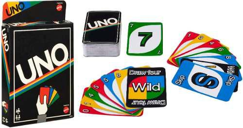 Juego de cartas uno retro nuevos! sellados juego mesa mattel