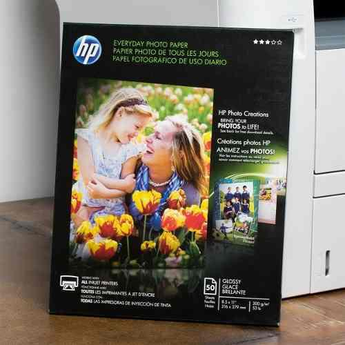 Kit 10 papel fotográfico hp 50 hjas 8.5x11 200g/m q8723a