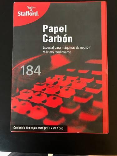 Papel carbon tamaño carta staford (negro)
