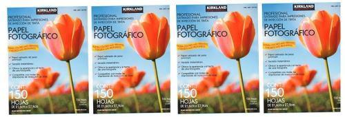 Papel fotografico 150 hojas 255gr carta 4 pack