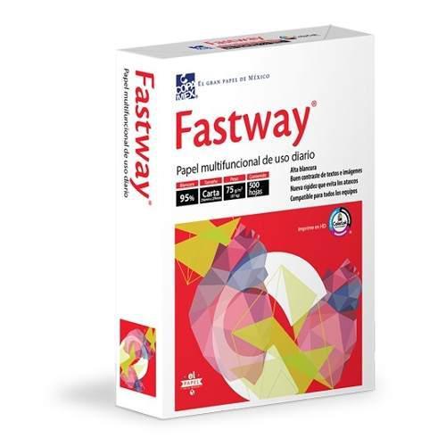 Paquete 500 hojas papel bond blanco tamaño carta fastway