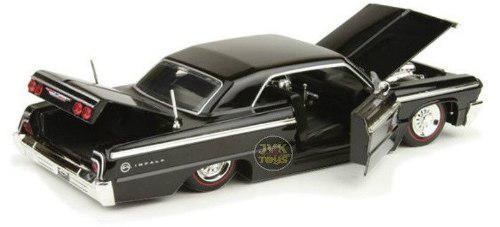 1964 chevrolet impala negro showroom floor jada 1:24