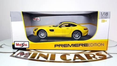 Autos escala mercedes amg gt metal 1/18 maisto premier