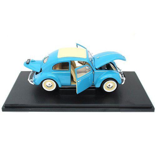Azul volkswagen beetle 1950 vocho nuevo escala 1:18 welly