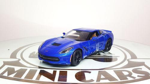 Corvette stingray z51 2014 b 1/18 maisto autos escala metal