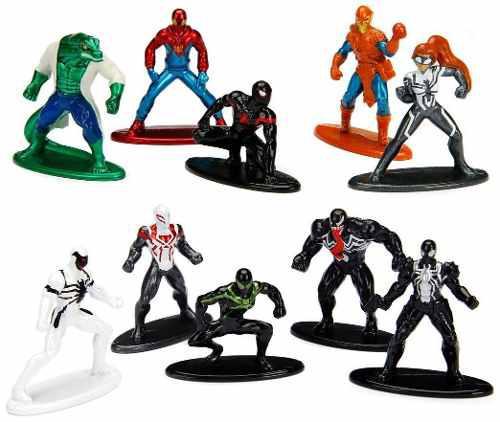 Genial coleccion nano metalfigs de marvel spiderman venom
